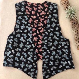 Vintage Reversable Floral Vest sz M